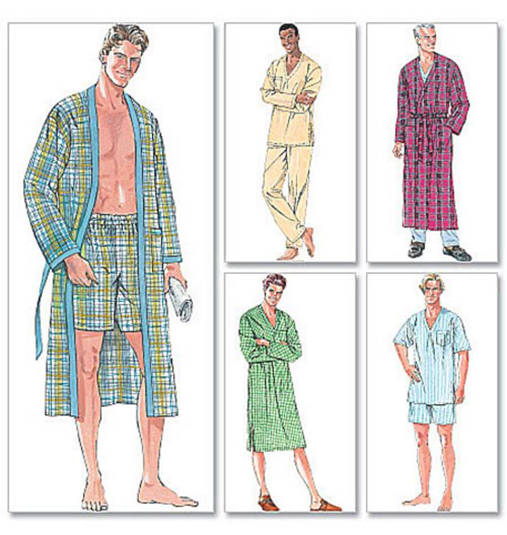 Пижама и халат для мужчины