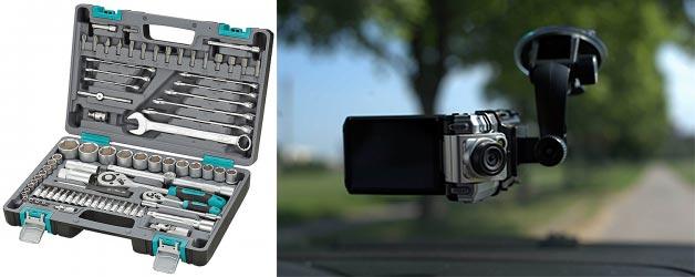Набор инстурментов для авто и видеорегистратор