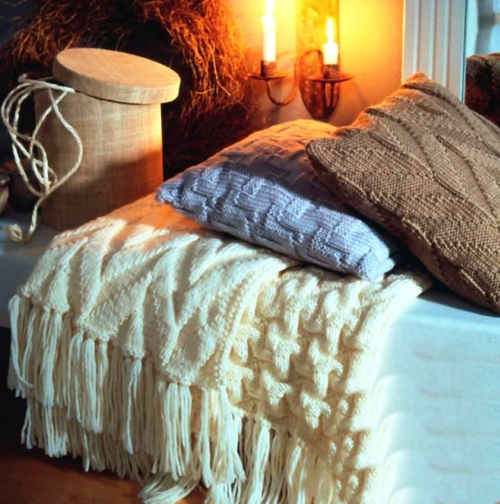 Для расслабления пледы и подушки