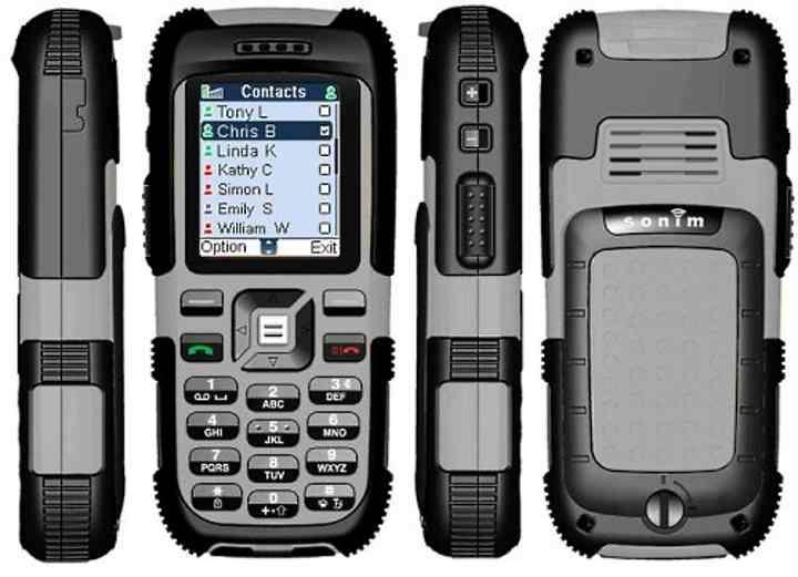 Модель телефона с противоударной защитой