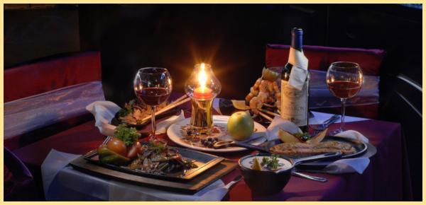 Романтический стол и вечер на двоих