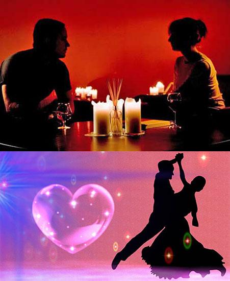 Романтичный вечер и танец
