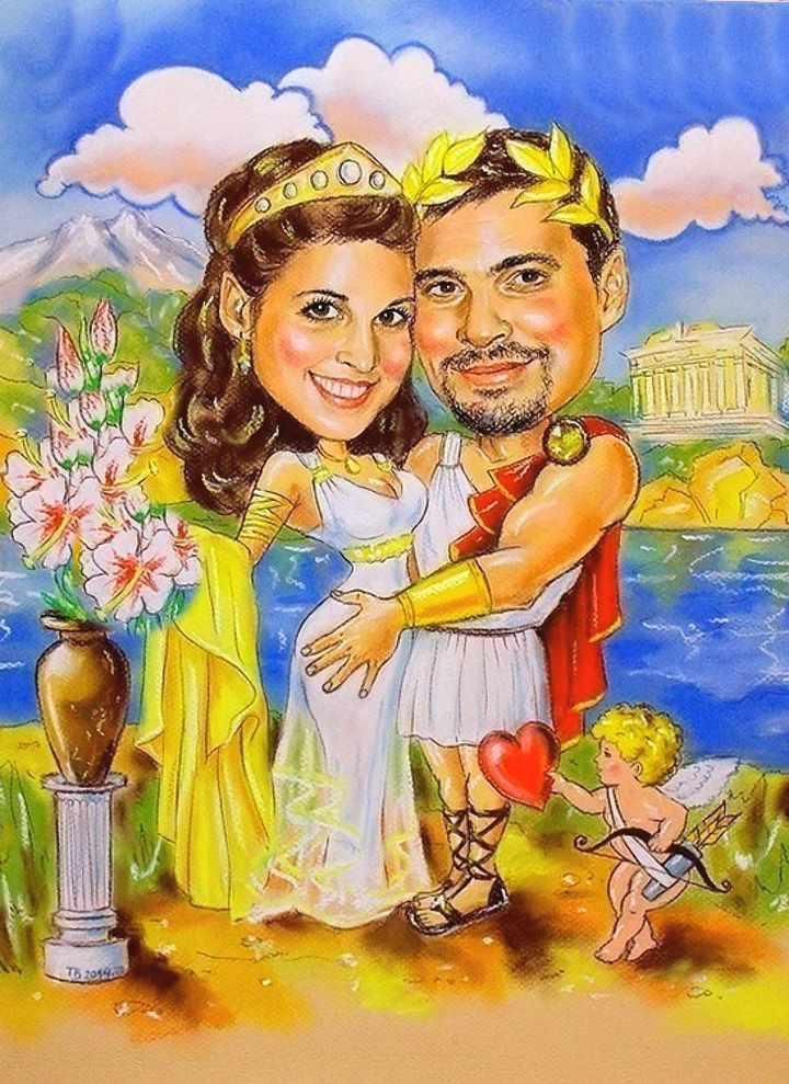 Свадебная тема в шаржах