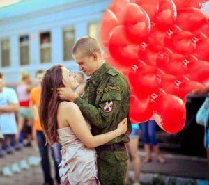 Солдат и шары