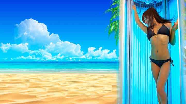 Летом на море и солярий