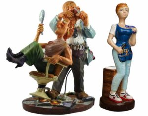 Парикмахеры в статуэтках