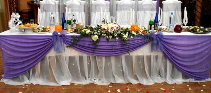 Убранство стола невесты и жениха