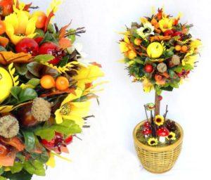 Цветок счастья из фруктов