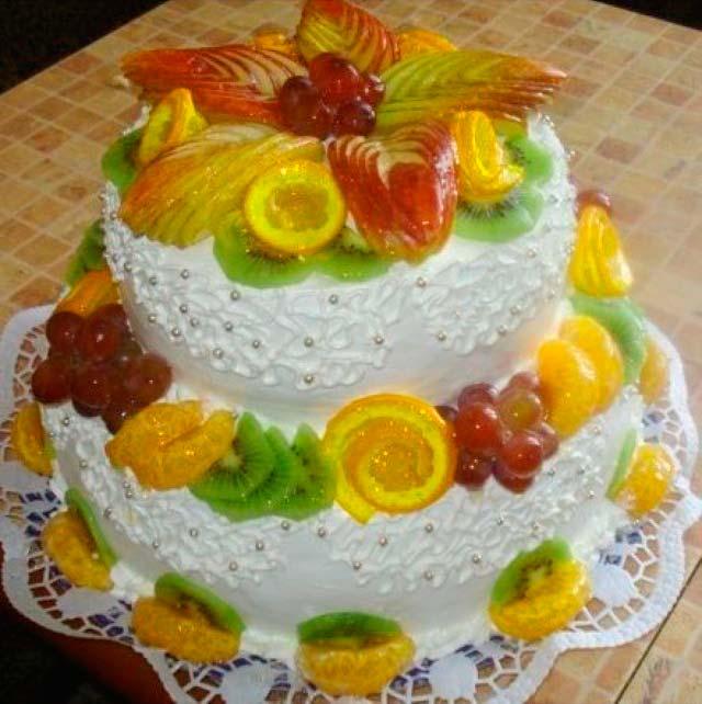 Многоэтажный торт маме на юбилей в подарок