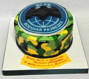 Торт с гербом разведки