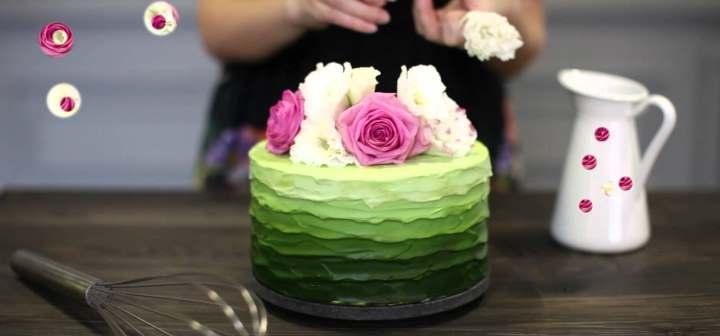 Зеленый торт своими руками