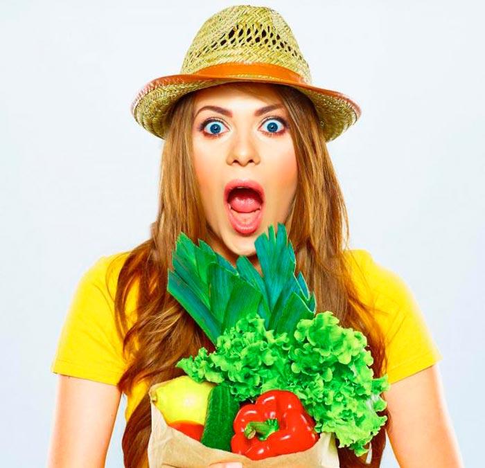 Девушка-вегетарианка