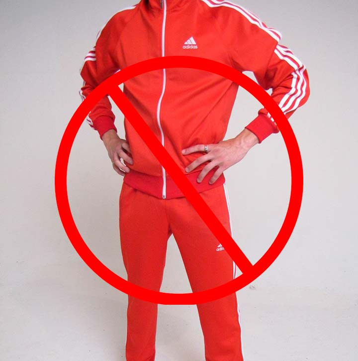 Недопустим спортивный костюм красного цвета в тюрьме
