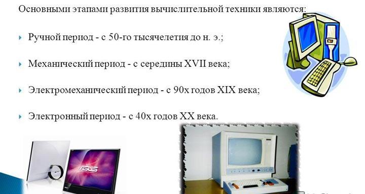 Обзор развития информатики