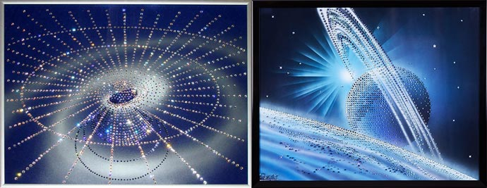 Картины с кристаллами Сваровски