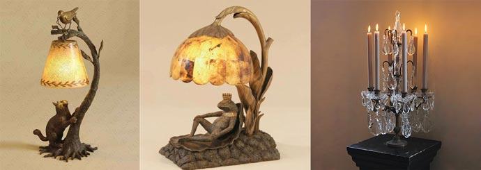 Сказочные настольные лампы, канделябр
