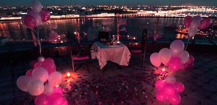 Романтический ужин для жены на день рождения