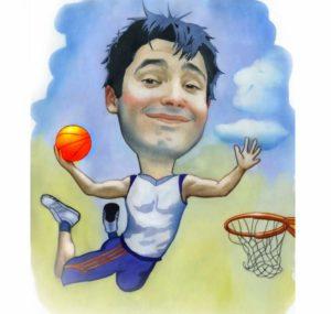 Шарж на баскетболиста