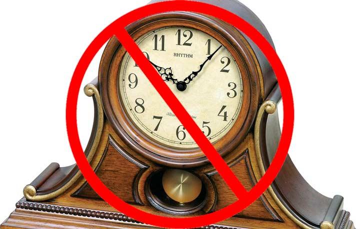 Не дарите часы