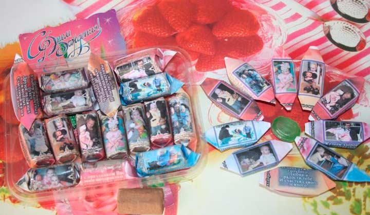 Конфеты с фото в подарок свекрови на юбилей