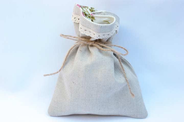 Льняной мешочек для мелочей своими руками