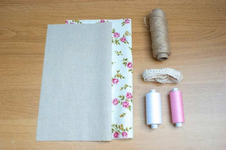 Материалы для создания льняного мешочка