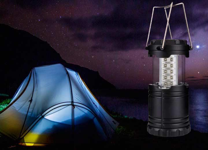 Палатка и фонарь