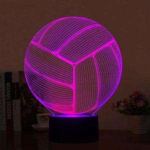 Волейбольный мяч в светильнике