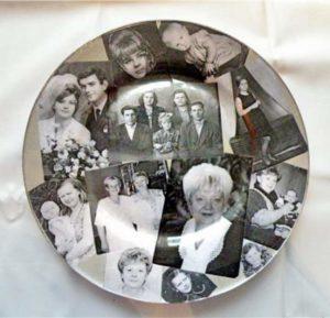 Фотоколлаж на тарелке