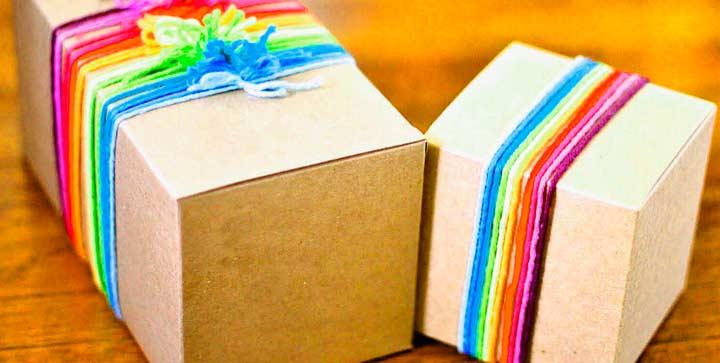 Упаковка для подарка жене на день рождения