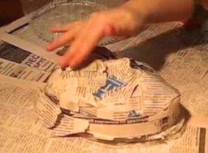 Как делать слои из папье маше
