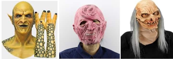 Три реальных маски для праздника Хэллоуин