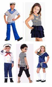 Пять вариантов морских костюмов