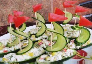 Еда под морскую тематику