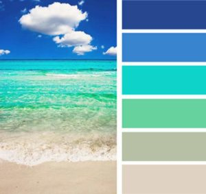 Море песок и небо - цвета