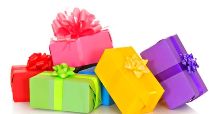 Цветные подарочные коробки