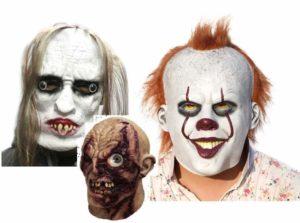 Три маски для праздника Хэллоуин