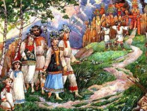 Картина из жизни язычников-славян