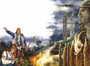 Картина из жизни язычников - поклонение божествам