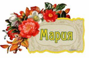 Мария и цветы