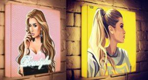 2 варианта портрета для фотолайтов