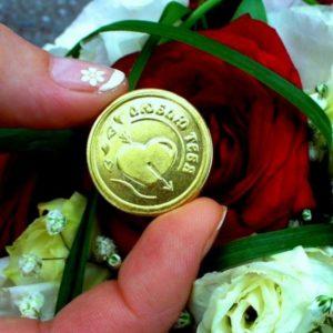 Монетка на свадьбу