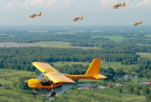Желтый самолетик
