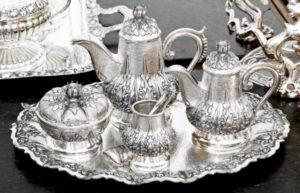 Сервиз на серебряную свадьбу