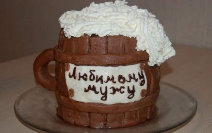 Кружка-торт для мужа